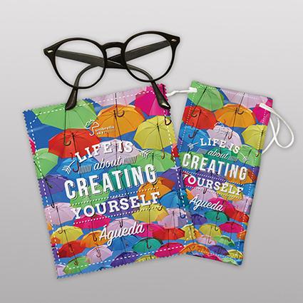 Pano + saco de óculos
