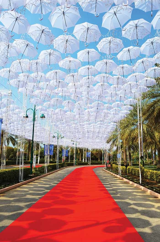 Christmas Umbrella Sky Project  - Manama'151