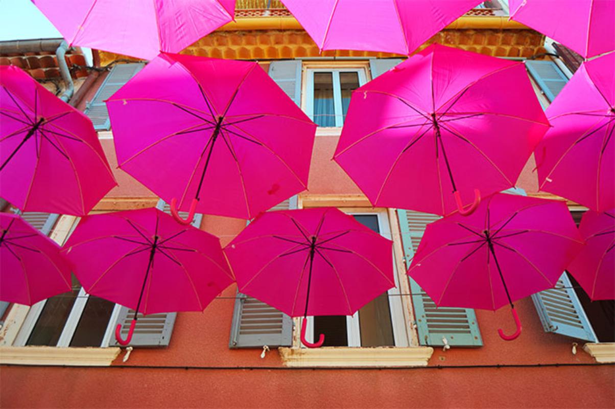 Pink Umbrella Sky - Sanary-sur-Mer'161