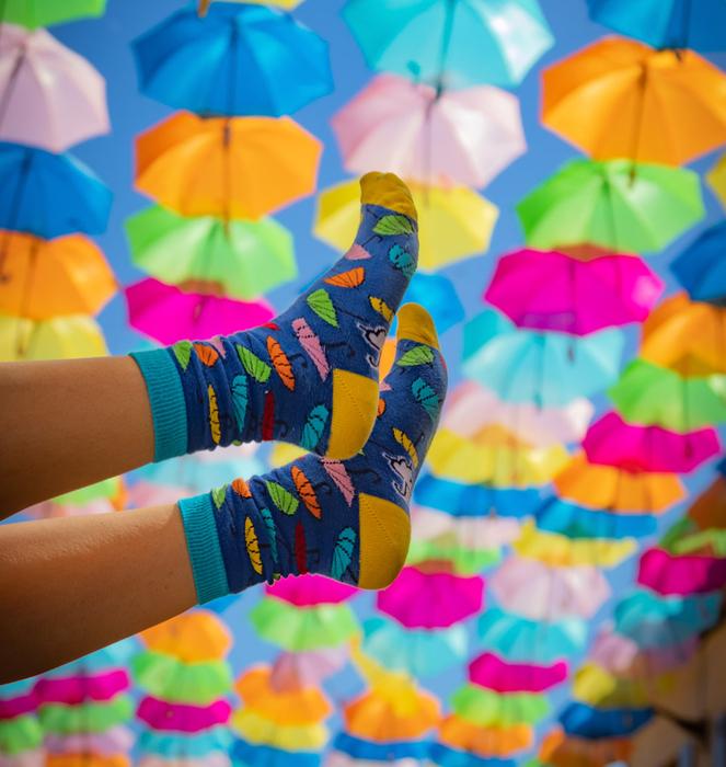 "Meias ""Colorful Umbrellas"""