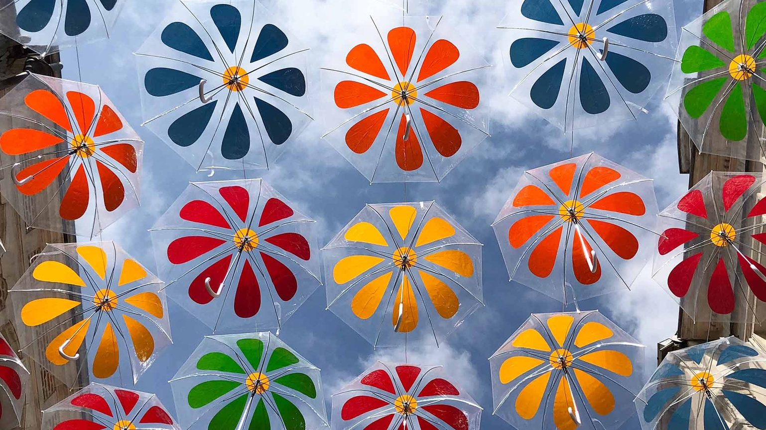 Umbrella Sky Flower Power - Laon'19