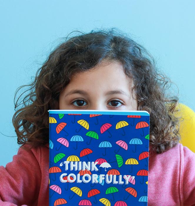 """Caderno """"Colorful Umbrellas"""" 7"""