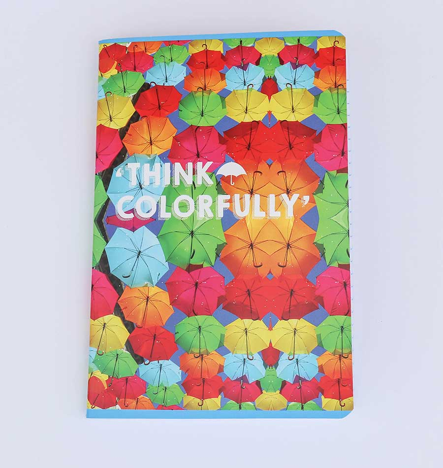 "Caderno ""Think Colorfully"""