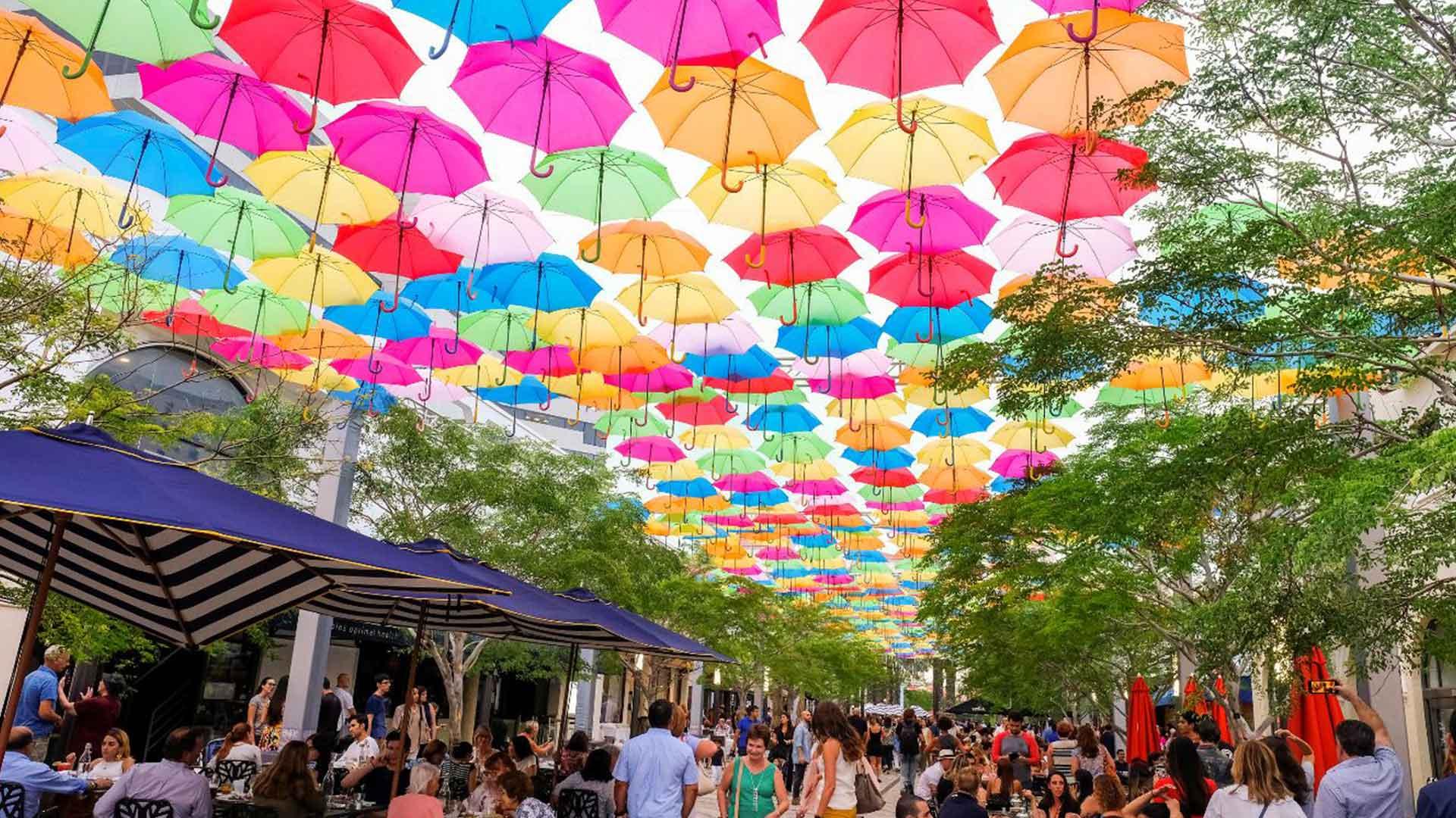 Umbrella Art Installation Adds Colorful Explosion to Giralda Plaza in Coral Gables 1