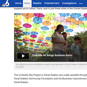 Umbrella Art Installation Adds Colorful Explosion to Giralda Plaza in Coral Gables 1