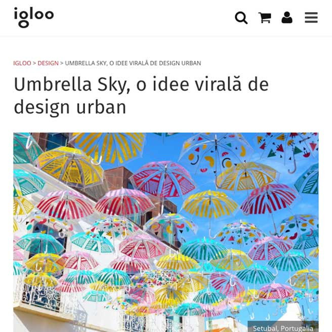 Umbrella Sky, a viral idea of ??urban design 0