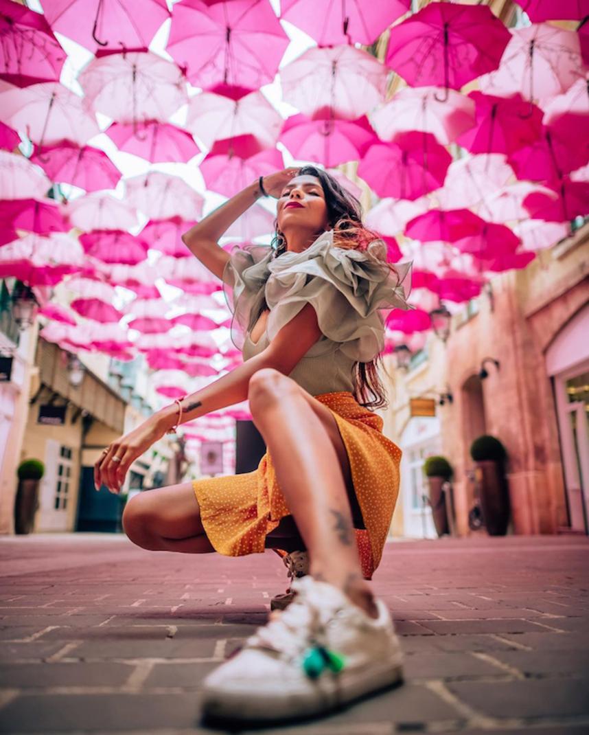Pink Umbrella Sky Project - Paris'20