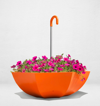 Colorful planter with handle