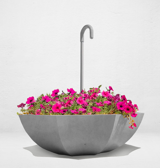 Concrete Planter with handle 1