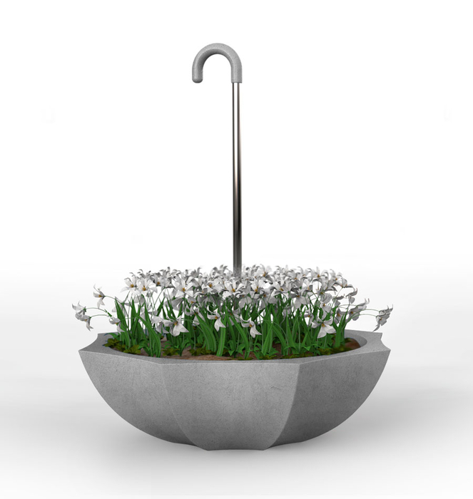 "Concrete ""Umbrella"" Planter 0"