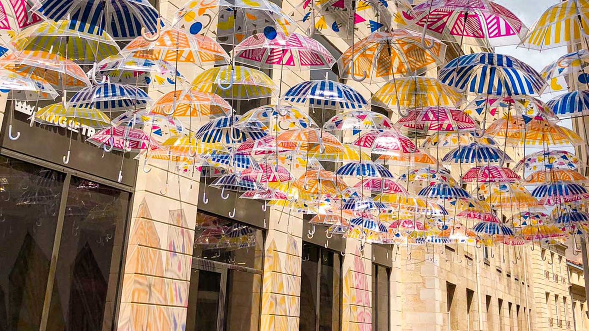 Umbrella Sky Flower Power - Bordeaux'20