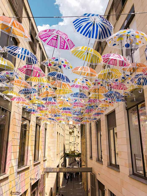 Umbrella Sky Flower Power - Bordeaux'200