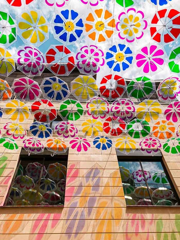 Umbrella Sky Flower Power - Bordeaux'202