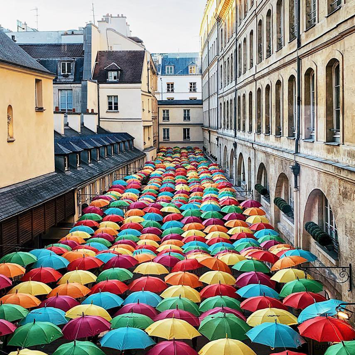 Umbrella Sky Project: Os Guarda-chuvas de Águeda chegaram a Paris 1