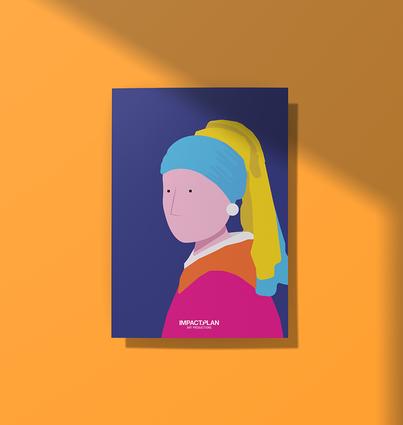 """Poster """"Rapariga com Brinco de Pérola"""""""