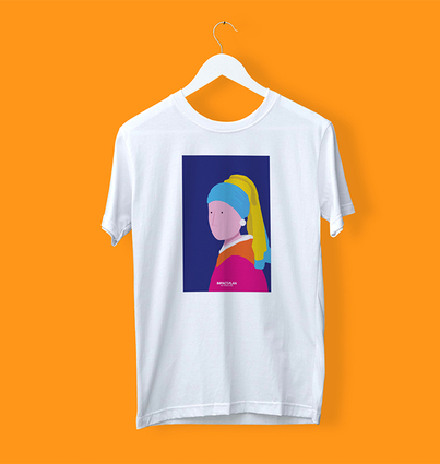 """T-shirt """"Girl with a Pearl Earring"""""""