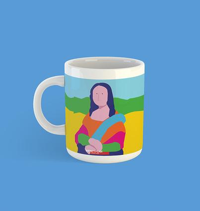 "Caneca ""Mona Lisa"""