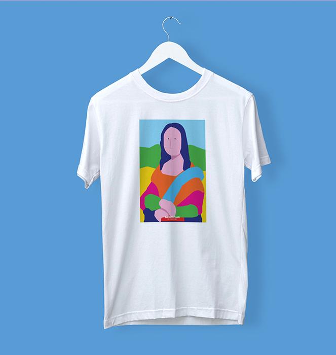 """T-shirt """"Mona Lisa"""" 1"""