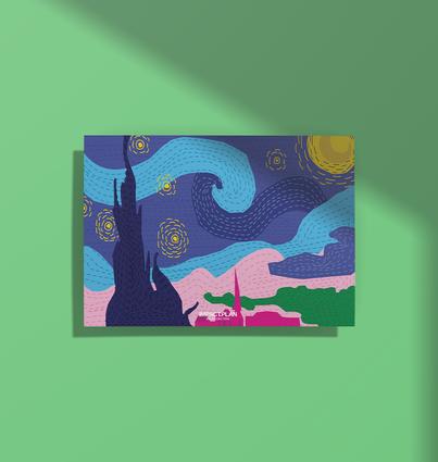 """Poster """"Noite Estrelada"""""""