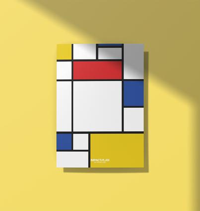 """Poster """"Composição de Vermelho Azul e Amarelo"""""""