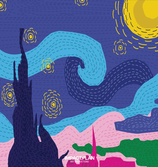 """Mug """"Starry Night"""" 1"""