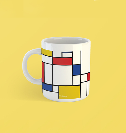"Mug ""Composition of Red Blue and Yellow"""