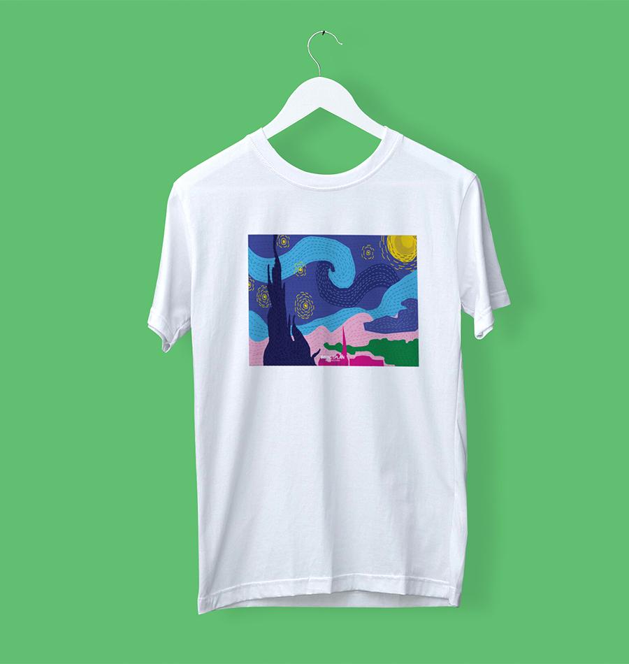 "T-shirt ""Starry Night"""