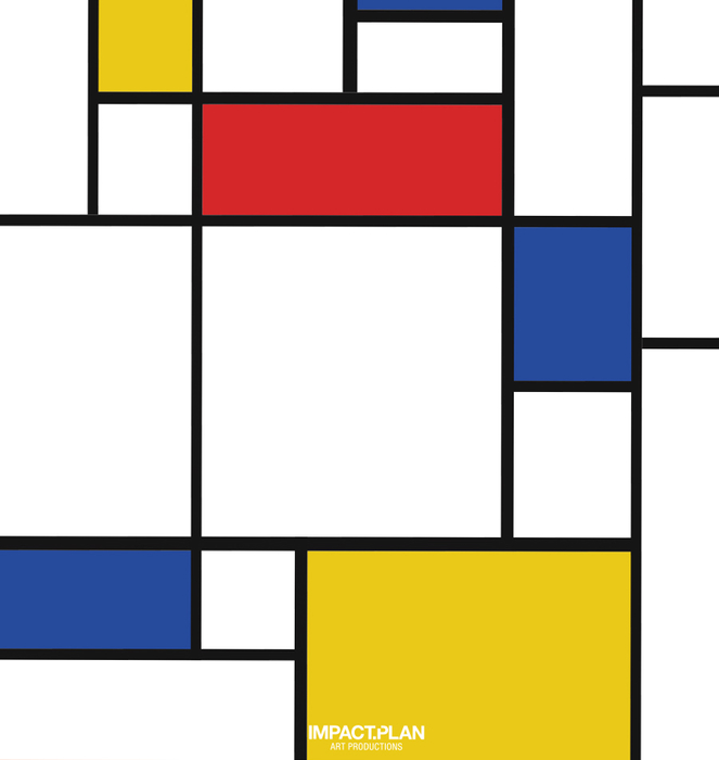 """T-shirt """"Composition of Red Blue and Yellow"""" 1"""